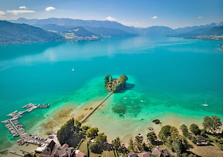 Aerial view of Attersee