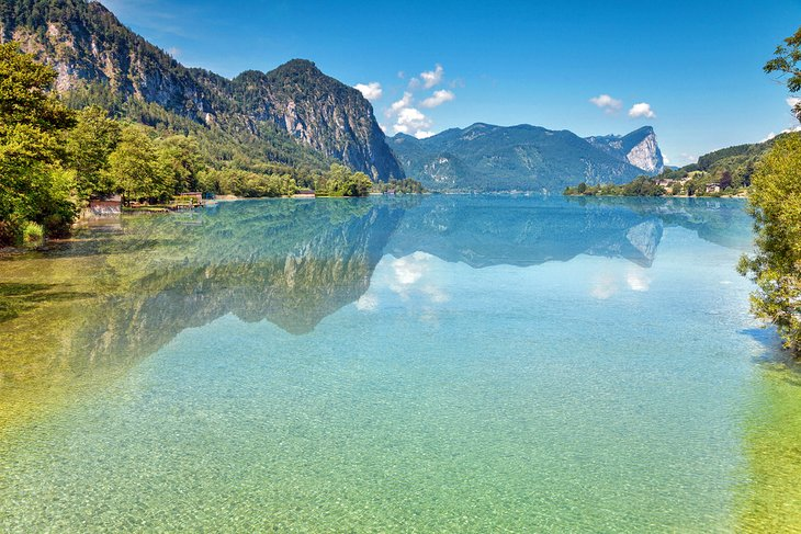 The clear waters of Mondsee