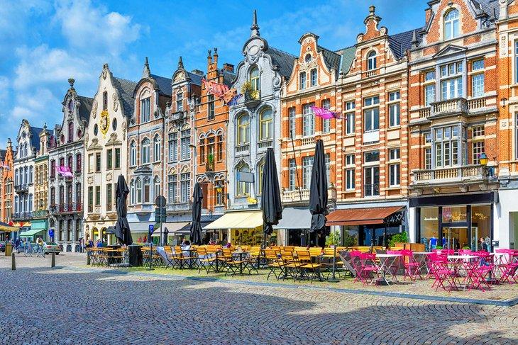 Grote Markt en el casco antiguo de Mechelen