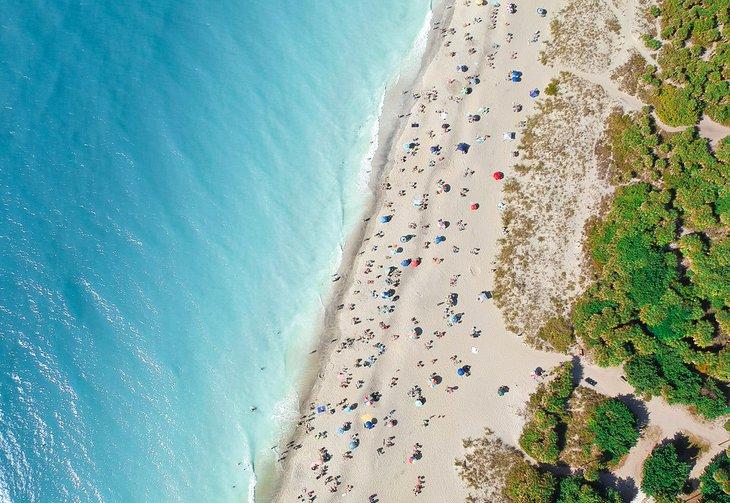 Vista aérea de la playa de Venecia