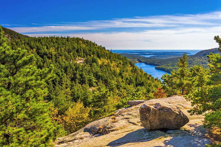 View from North Bubble, Acadia National Park, Maine