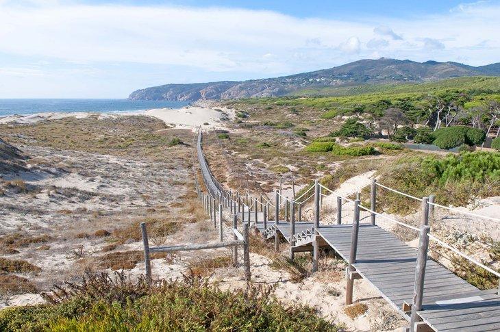 Camino a la playa de Guincho