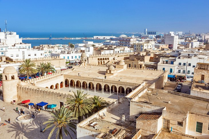View over the medina in Sousse