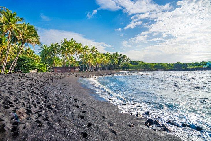 Playa Punalu'u, Hawái