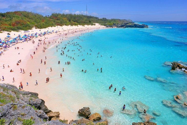 Playa de Horseshoe Bay, Bermudas