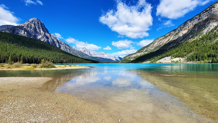 Lower Waterfowl Lake at Waterfowl Lakes Campground