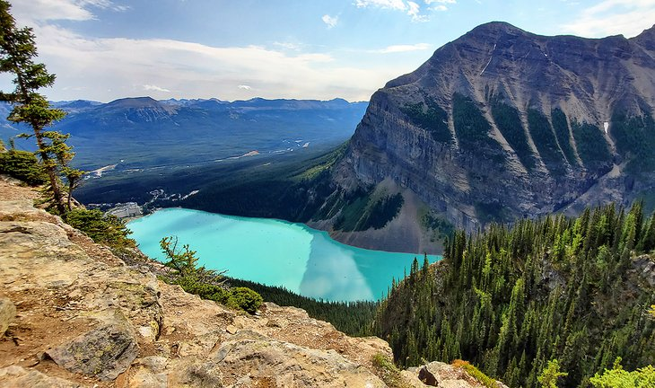 View of Lake Louise from the Big Beehive