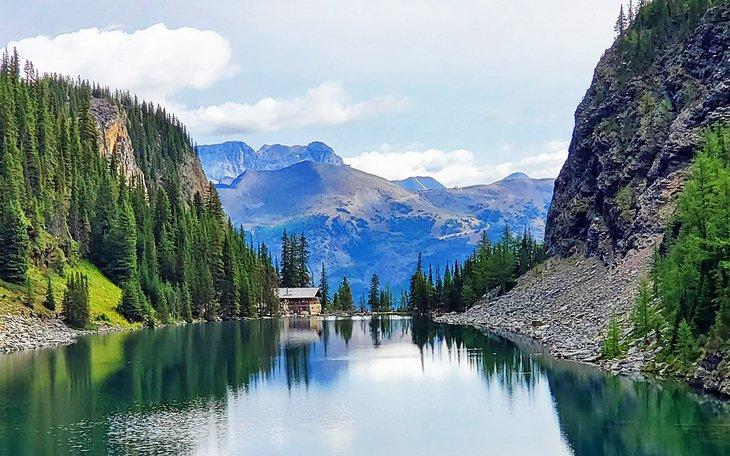 Lake Agnes y la casa de té del lago Agnes