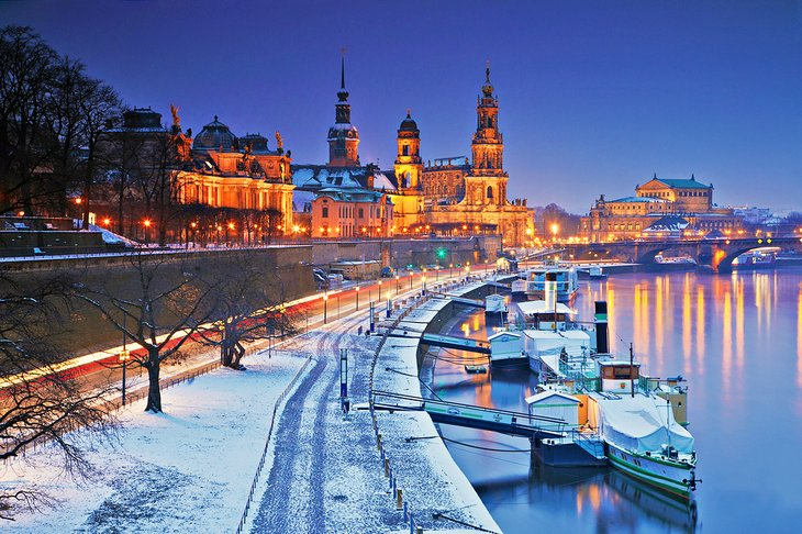 Snow-covered Dresden