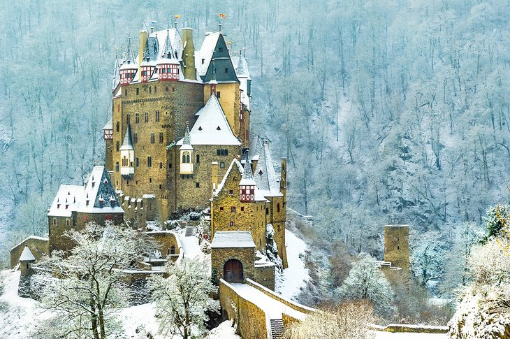 Eltz Castle in the winter in the Mosel Valley