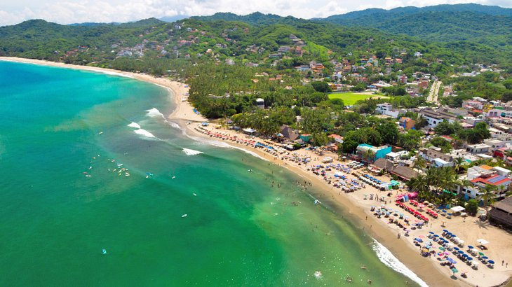 Aerial view of Sayulita