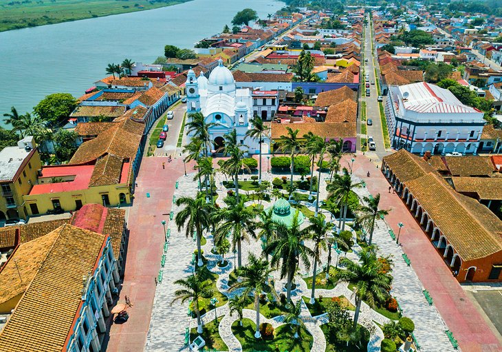 Aerial view of Tlacotalpan