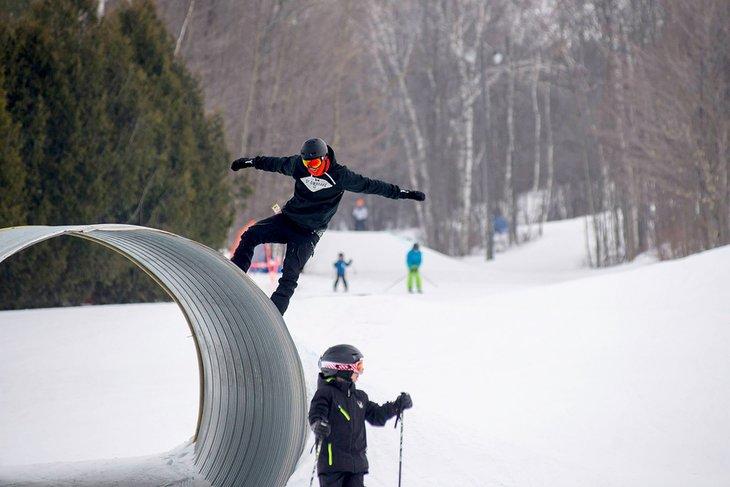 Puppy Pound en la estación de esquí de Dagmar