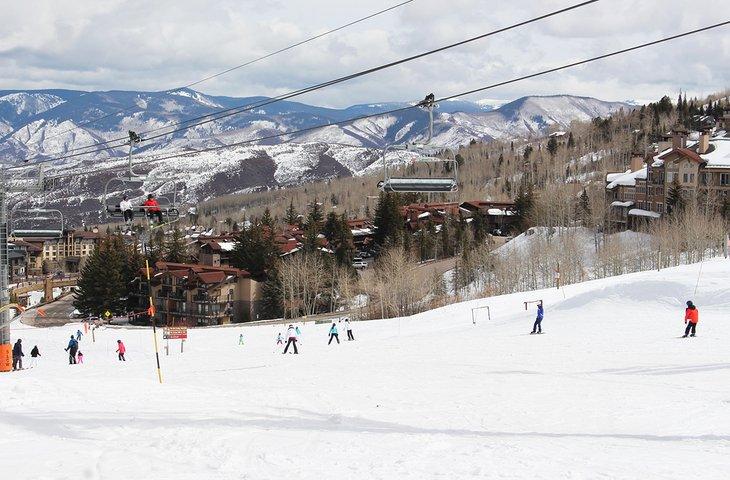 Esquiadores en Snowmass