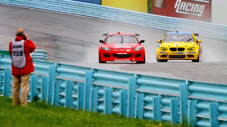 Cars racing at Watkins Glen International