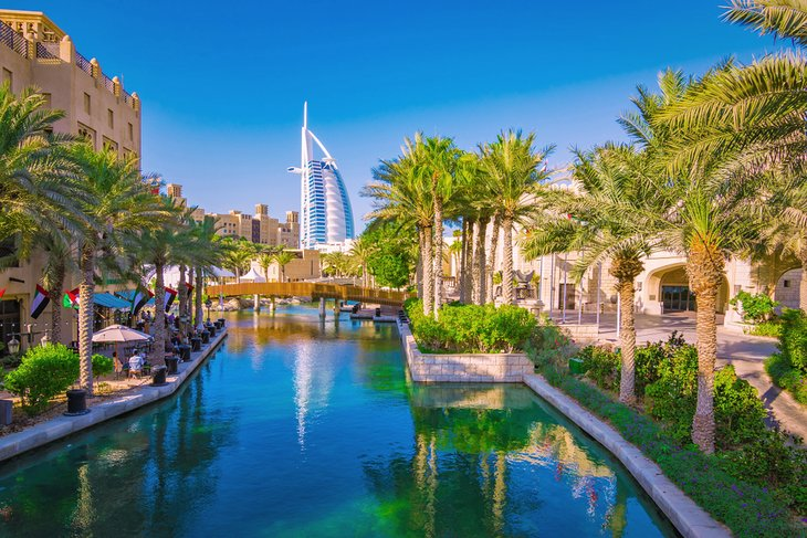 Madinat Jumeirah district in Dubai