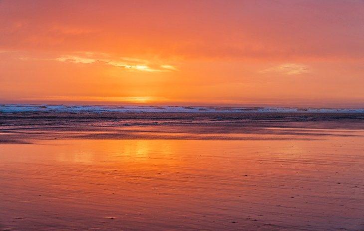 Atardecer en Pacific Beach State Park