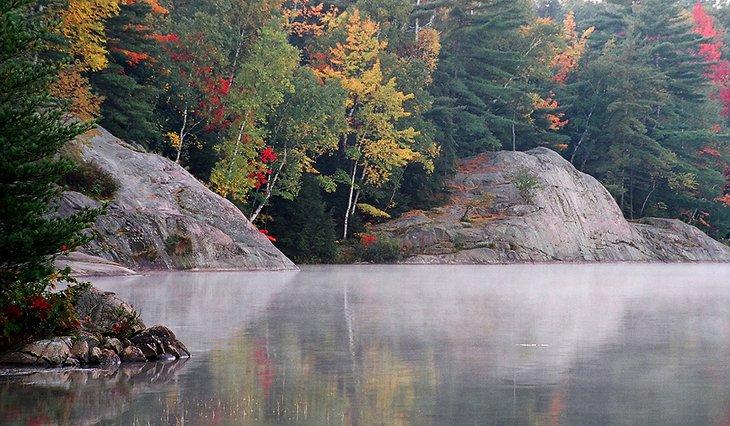 Mañana en el lago George