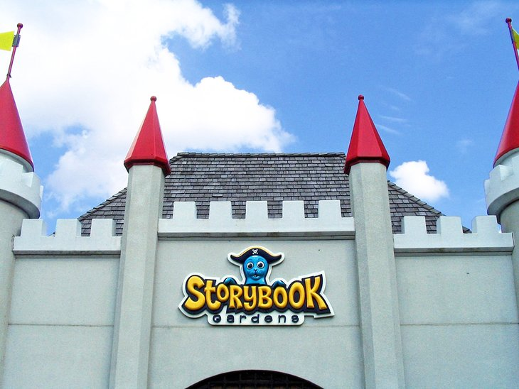 The entrance to Storybook Gardens