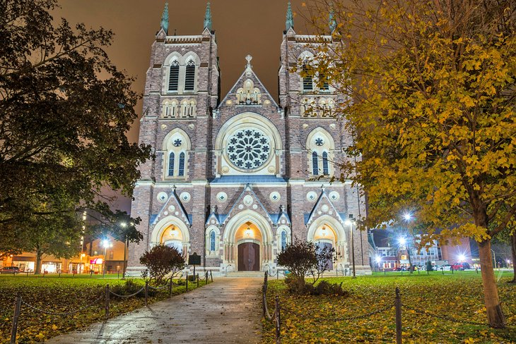 St. Peter's Cathedral Basilica at night
