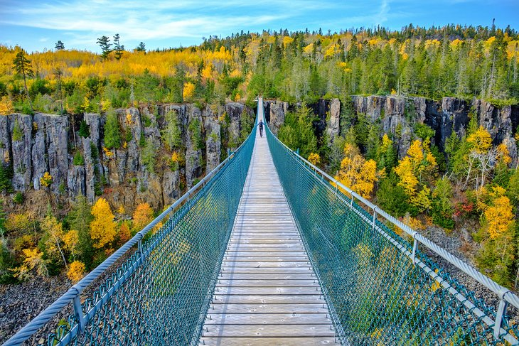 Longest suspension bridge in Canada at Eagle Canyon, near Thunder Bay