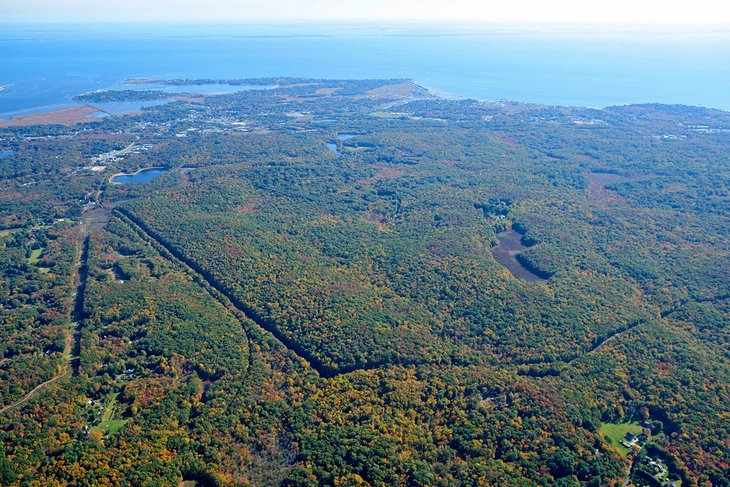 Aerial view of The Preserve