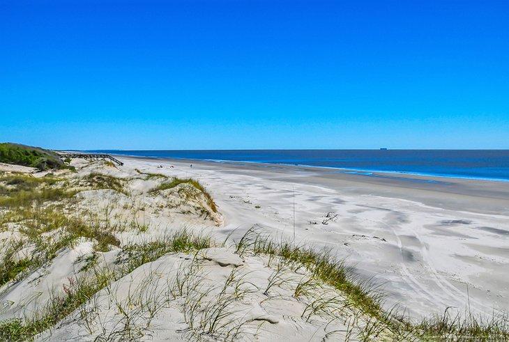 Playa en la isla Jekyll