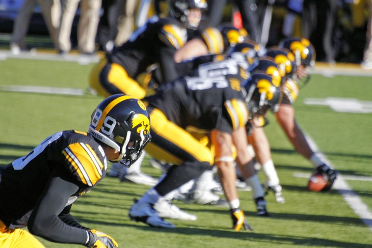 Iowa Hawkeye Football at Kinnick Stadium