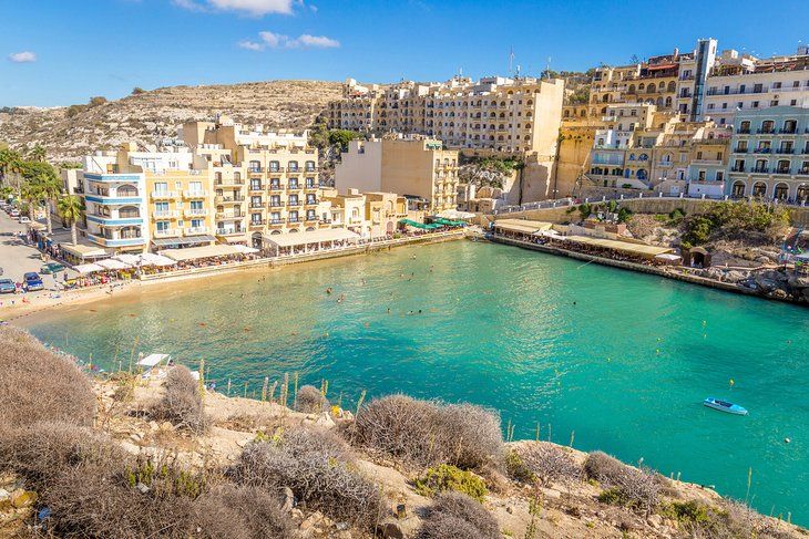 Xlendi Bay and town on the island of Gozo