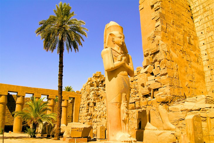 Statue in the temple of Karnak in Luxor