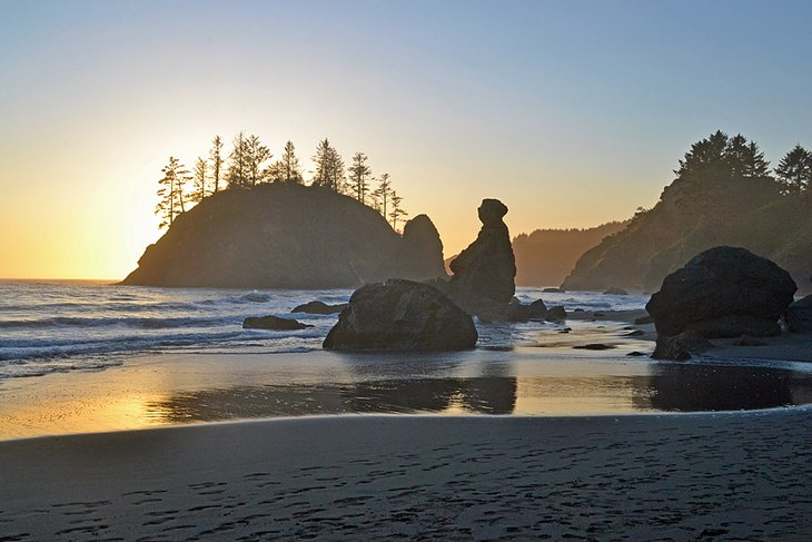 Trinidad State Beach at Sunset