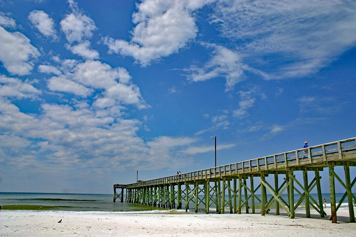 Pier in St. Andrews State Park, Florida