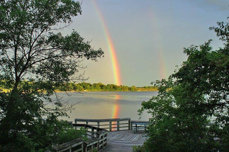 Arco iris en Big Creek Lake