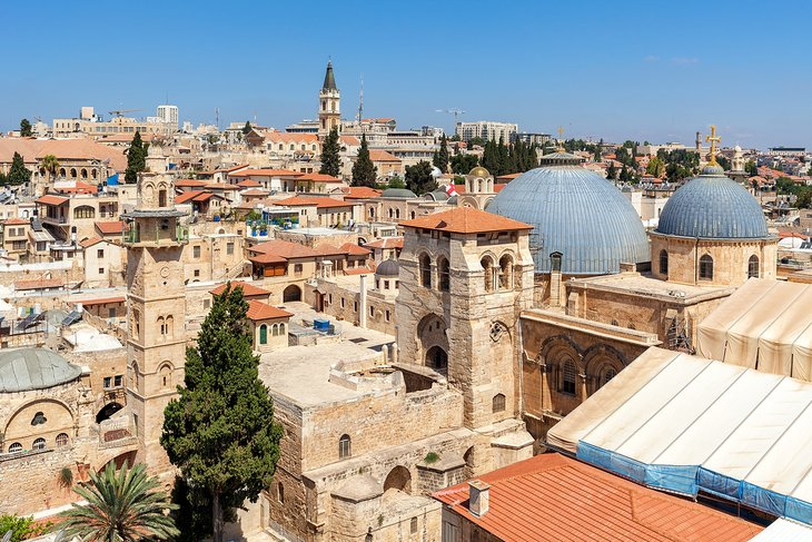 View of the Church of the Holy Sepulchre and the Christian Quarter