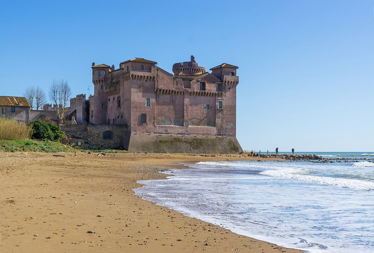 Medieval castle on the beach at Santa Severa