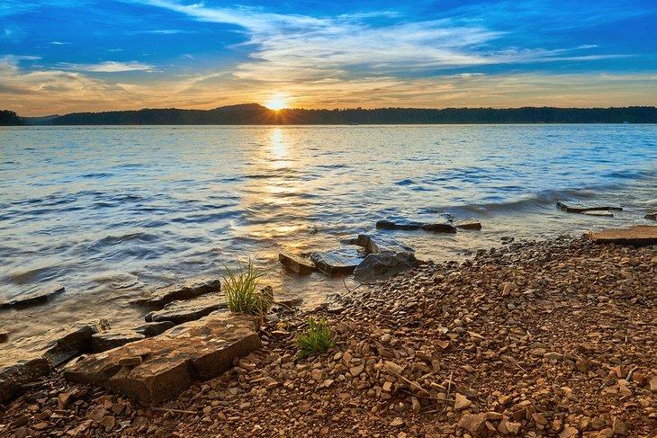 Atardecer en el lago Kentucky