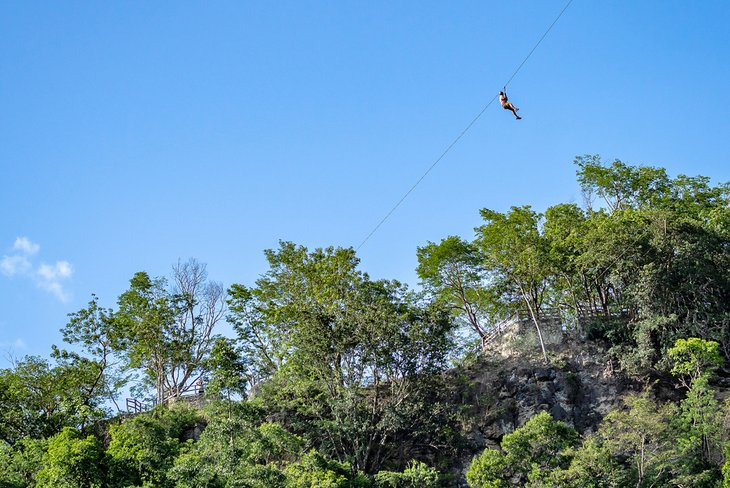Ziplining over the Mexican jungle