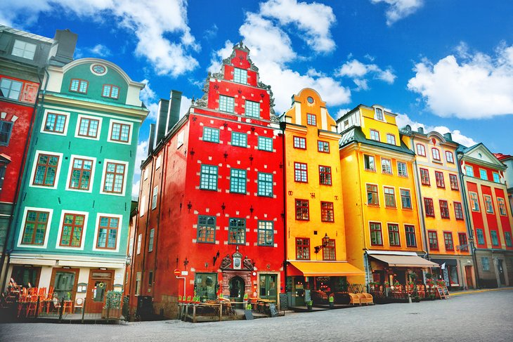 Colorful buildings in Old Town Stockholm