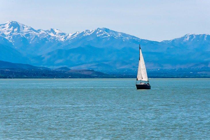 Sailboat on Utah Lake