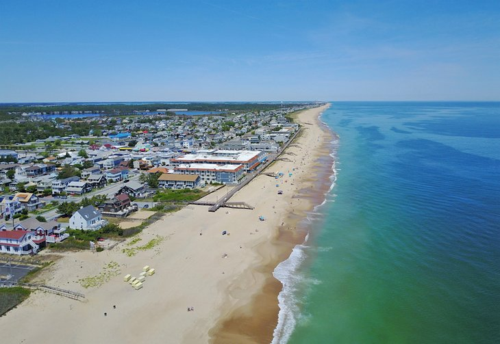 Vista aérea de Bethany Beach, Maryland