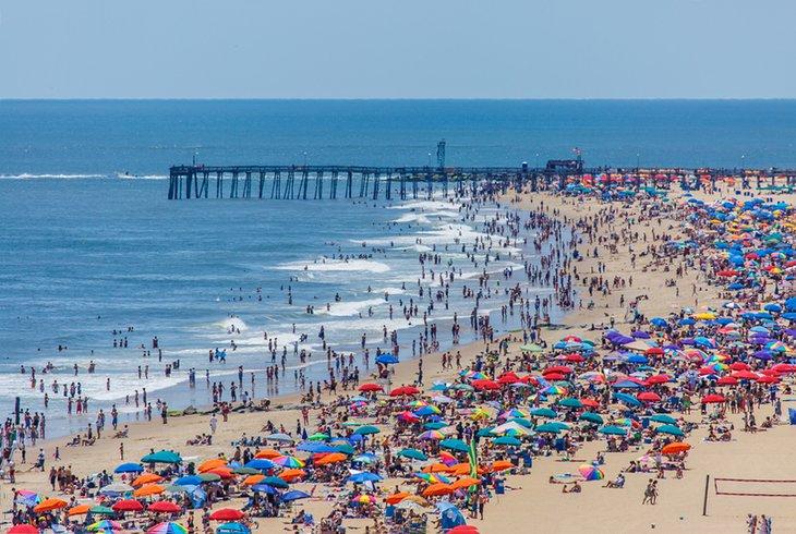 Día de verano en Ocean City Beach
