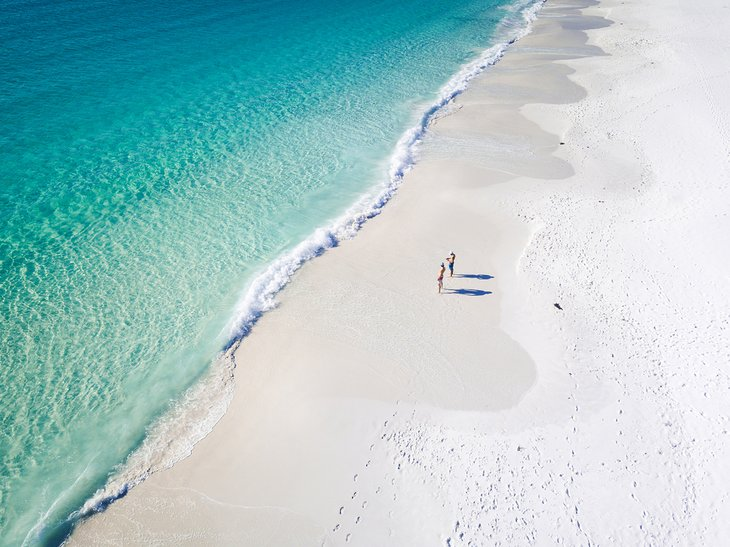 Aerial view of Hyams Beach, Jervis Bay, New South Wales