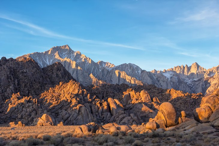 Sunrise on the Alabama Hills