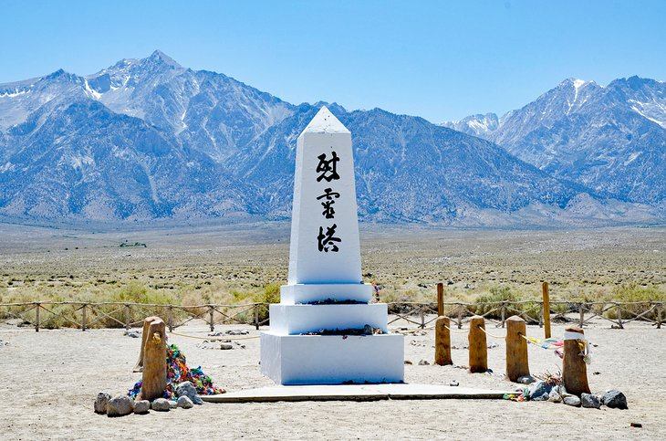 Obelisk in Manzanar, a Japanese relocation camp of WWII
