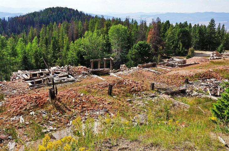 Restos de la ciudad fantasma de granito
