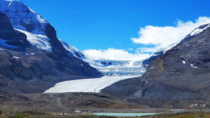Athabasca Glacier at the Icefields Center in Jasper National Park