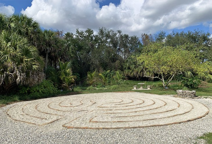 The labyrinth at the Helena Ramsay Memorial Garden