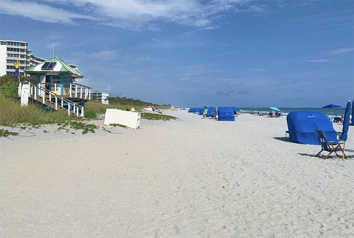 La playa de Atlantic Dunes Park