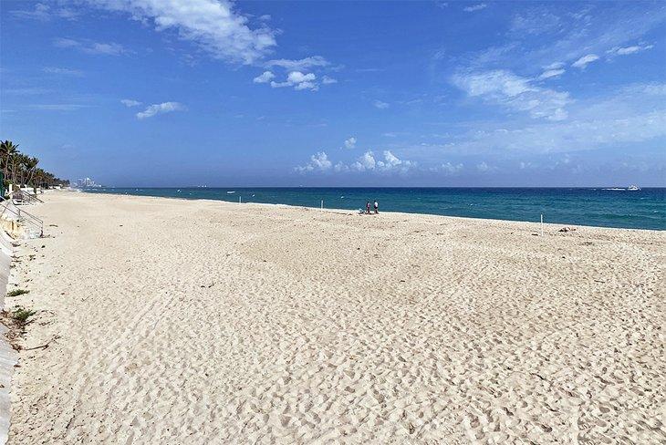 La arena suave y dorada de Palm Beach