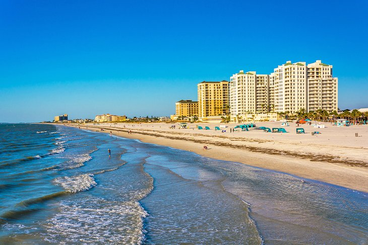 Beachfront hotels on Clearwater Beach